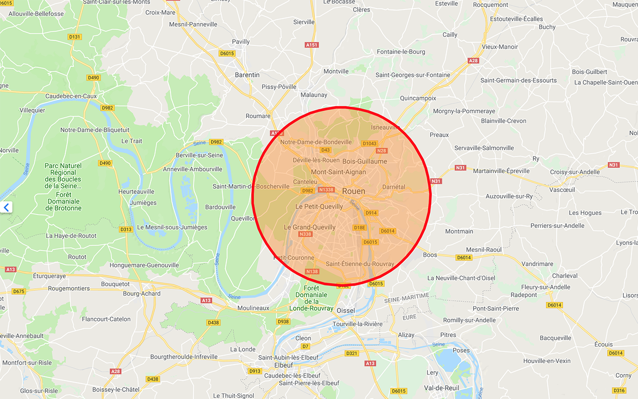 Rouen informatique - zone d'intervention, agglomération de Rouen