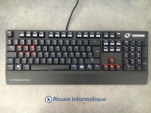 Rouen informatique photo clavier avant nettoyage