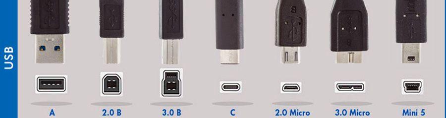 les differents connecteurs usb informatique